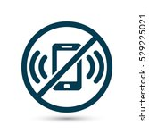 a ban on the phone  icon | Shutterstock .eps vector #529225021