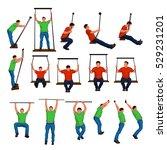 set of riding on swings | Shutterstock .eps vector #529231201