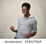 happy black man. | Shutterstock . vector #529237069
