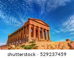 the famous temple of concordia... | Shutterstock . vector #529237459