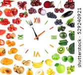 food clock with collection of... | Shutterstock . vector #529240921