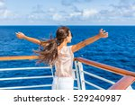 cruise ship vacation woman... | Shutterstock . vector #529240987