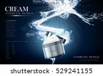 refreshing face cream contained ... | Shutterstock .eps vector #529241155
