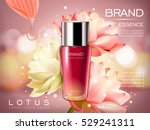 lotus essence concentrate... | Shutterstock .eps vector #529241311