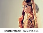 portrait of beautiful indian... | Shutterstock . vector #529246411