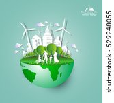 eco friendly. ecology concept... | Shutterstock .eps vector #529248055