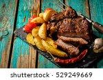 Juicy Steak Well Done Beef Wit...