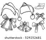 Set Of Monochrome Doodle Hats...