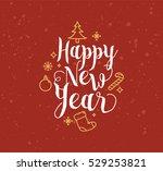 happy new year 2017 text design.... | Shutterstock .eps vector #529253821