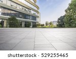 empty floor with modern... | Shutterstock . vector #529255465
