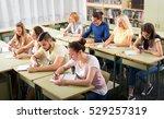 adult highschool students... | Shutterstock . vector #529257319