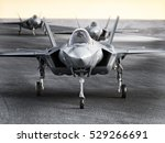 multiple f35 military jet... | Shutterstock . vector #529266691