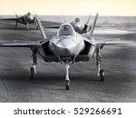 multiple f35 military jet... | Shutterstock . vector #529266691
