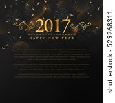 golden 2017 new year text with... | Shutterstock .eps vector #529268311