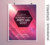 2017 new year party flyer... | Shutterstock .eps vector #529269811