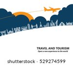 travel and tourism and ... | Shutterstock .eps vector #529274599
