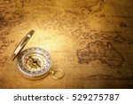 Old Vintage Compass On Vintage...