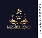 luxury logo | Shutterstock .eps vector #529275919