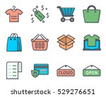 business ecommerce icon vector... | Shutterstock .eps vector #529276651