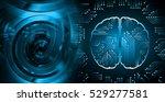 dark blue light abstract... | Shutterstock . vector #529277581