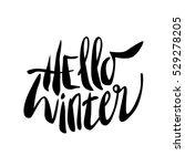 hello winter lettering... | Shutterstock .eps vector #529278205