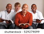 diverse group of men in a small ...   Shutterstock . vector #529279099