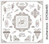 vector set of vintage elements... | Shutterstock .eps vector #529286485