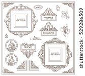 vector set of vintage elements... | Shutterstock .eps vector #529286509