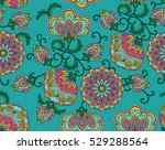 vintage floral seamless pattern.... | Shutterstock .eps vector #529288564