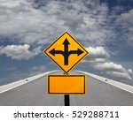 a yellow traffic signpost with... | Shutterstock . vector #529288711