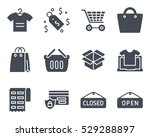 ecommerce business finance shop ... | Shutterstock .eps vector #529288897