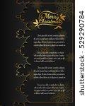 christmas card from vector... | Shutterstock .eps vector #529290784