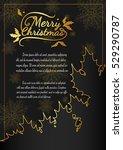 christmas card from vector... | Shutterstock .eps vector #529290787