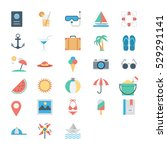 summer and holidays colored... | Shutterstock .eps vector #529291141
