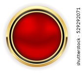 red christmas button with gold... | Shutterstock .eps vector #529292071
