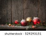 christmas tree toys  red ... | Shutterstock . vector #529293151