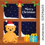 vector greeting card. colorful...   Shutterstock .eps vector #529296655