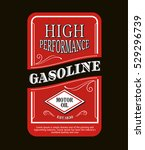vintage label gasoline sign... | Shutterstock .eps vector #529296739