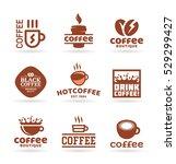 set of nine vector labels ... | Shutterstock .eps vector #529299427