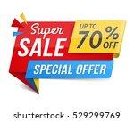 special offer super sale banner ... | Shutterstock .eps vector #529299769