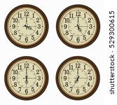 Set Of Realistic Wall Clocks ...