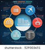 shipping cargo info graphic... | Shutterstock .eps vector #529303651