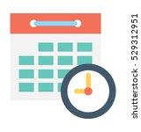 schedule vector icon  | Shutterstock .eps vector #529312951