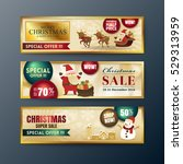 gold christmas sale web banners ...   Shutterstock .eps vector #529313959