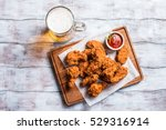 buffalo style chicken wings... | Shutterstock . vector #529316914