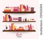 Bookshelves With Colorful Book...