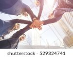 asian business teamwork touch... | Shutterstock . vector #529324741