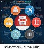 logistic cargo info graphic... | Shutterstock .eps vector #529324885