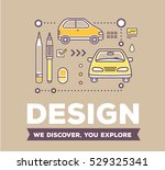 vector creative retro color... | Shutterstock .eps vector #529325341