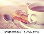coffee break  vintage style... | Shutterstock . vector #529325941